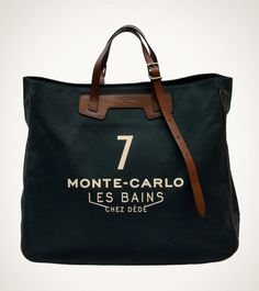 Tote-bag entirely and carefully Made in Italy with silk-screened natural fabric and genuine calf italian vegetable tanned leather. My Bags, Tote Bags, Purses And Bags, Canvas Leather, Leather Bag, Black Leather, Sac Week End, Sacs Design, Fashion Bags