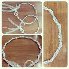Στέφανα γάμου με λευκή δαντέλα... Crochet Necklace, Wedding, Inspiration, Jewelry, Valentines Day Weddings, Biblical Inspiration, Jewlery, Crochet Collar, Bijoux