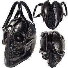 Skull Collection Hand bag Black