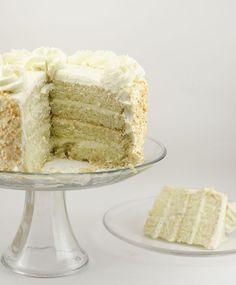 Coconut Layer Cake with Coconut Swiss Meringue Buttercream - The Cake Merchant