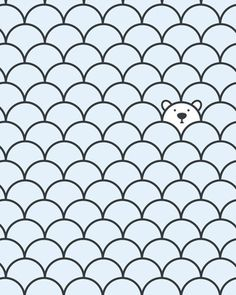 the petals remind me of that Rainbow Fish book. emphasis on the last polar bear. The Last Polar Bear by John Tibbott - This would be a great wallpaper for a baby's nursery Pattern Illustration, Graphic Design Illustration, Polar Bear Illustration, Graphic Patterns, Print Patterns, Pattern Art, Pattern Design, Cute Pattern, Art D'ours