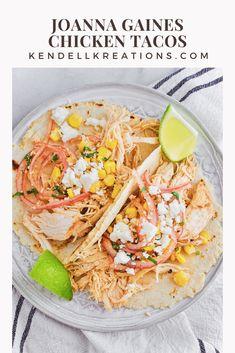 Flour Taco Recipe, Tortilla Recipe, Cookbook Recipes, Diet Recipes, Jojo Gaines, Joanne Gaines, Mexican Chicken Recipes, Magnolia Table