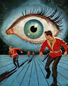Ed Valigursky cover for the first edition of Philip K Dick's Eye in the Sky 1957