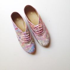 Pony Oxford Rainbow Marbled Fabric