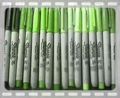 green sharpie collection