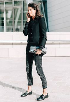 Um look todo preto também é uma ótima opção, e não fica nada boring!