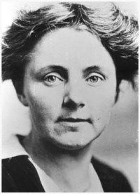 Anna Louise Strong, socialist and leader of the Seattle chapter of the American Union Against Militarism, had been elected to the Seattle School Board in 1916. In 1918 she was defeated in a special recall election that targetted her for her antiwar statements. (Courtesy Seattle Public Library)