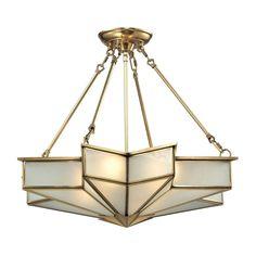 Art Deco Pendant Light Brass Decostar by Elk Lighting at Destination Lighting Art Deco Pendant Light, Art Deco Chandelier, Brass Pendant Light, Art Deco Lighting, Elk Lighting, Antique Lighting, Home Lighting, Chandelier Lighting, Chandeliers