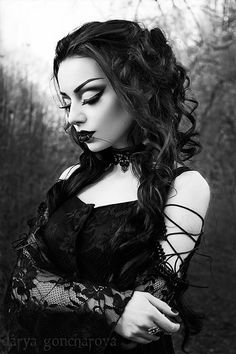 Model/MUA/ Photo: Darya Goncharova Dress: Gothlolibeauty / Dark in love Choker: Sinister / The Gothic Shop Welcome to Gothic and Amazing |www.gothicandamazing.com