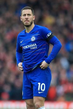 LIVERPOOL, ENGLAND - APRIL Eden Hazard of Chelsea looks dejected during the Premier League match between Liverpool and Chelsea at Anfield on April 2019 in Liverpool, United Kingdom. (Photo by Simon Stacpoole/Offside/Getty Images) Eden Hazard Chelsea, Chelsea Football, Premier League Matches, Play S, Sport Man, Football Players, Photo S, Liverpool England, April 14