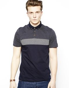 Ted Baker Polo Shirt With Panels #ted_baker #polo