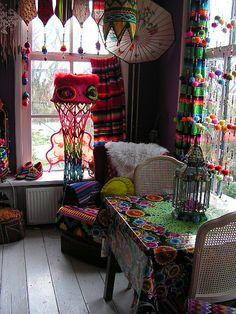 Fun and creative bohemian decor