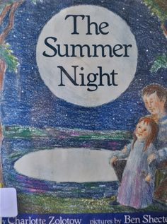 The Summer Night by Charlotte Zolotow, illustrated by Ben Schecter
