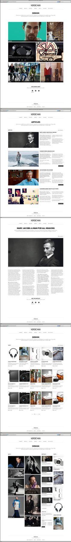 #web, #magazine, #grid  http://www.webdesignserved.com/gallery/Nordic-Man-Magazine/4665111