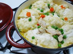 Chicken and Dumplings for Two - Finally a small recipe for a single girl to make...and oh so yummy looking too!