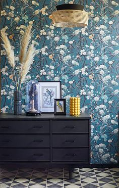 Teal Yellow, Bleu Turquoise, Cuba, Application Pattern, Piece A Vivre, British Colonial, Look Vintage, Wallpaper Online, Designer Wallpaper