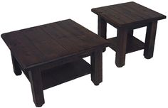 Coffee and End Table with Shelf