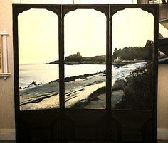 NADA ACKEL. LE CROUESTY, 1992. Huiles sur toiles montées sur paravent ( oil on canvas stretched on a folding screen), 165x165 cm.