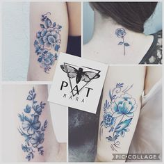 💎Some of my exclusives delft blue tattoos...👩🏻‍🎨#patmara #tattoo #tatuagem #tattuagio #flores #fioritattoo
