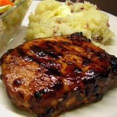 Grilled Mongolian Pork Chops - scroll down within the link to see the recipe.