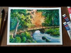 Watercolor landscape painting - YouTube Watercolor Landscape Paintings, Step By Step Painting, Paint Colors, Art Gallery, Animation, Colour, Make It Yourself, Youtube, Tela