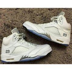 89f38e9434c2a0 Air Jordan 5 Retro White   Metallic Silver Remastered 2015 - Air 23 - Air  Jordan Release Dates