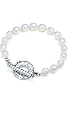 tiffany jewelry for women jewelry for love jewelry Charm bracelet #tiffany - not this exact one of course #jewelry #jewellery Tiffany Pearl Bracelet. Cuz pretty bitches wear pearls.