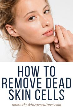 How to remove dead skin cells from your face is a question I get asked regularly as an esthetician. And the answer to this is very simple: To remove dead skin cells from your face, you need to exfoliate your face. Clear Skin Routine, Clear Skin Diet, Beauty Tips, Beauty Products, Beauty Hacks, Acne Prone Skin, Dead Skin, Skin Treatments, Natural Skin Care