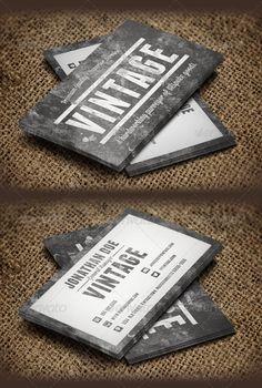 Vintage Grunge Business Cards Template #design Download: http://graphicriver.net/item/vintage-grunge-business-cards/6283084?ref=ksioks