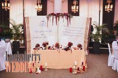 Wedding decoration - украшение президиума на свадьбу.