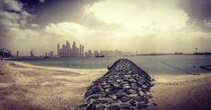 Dramaqueen #dubaimarina #view from #thepalmjumeirah #igersdubai #igersuae #instagramfilters #beach #sea #clouds #skyscrapers