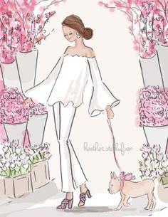 Arte de la pared para mujeres fin de semana en la flor