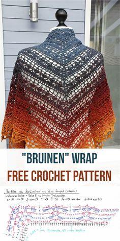 Bruinen Crochet Wrap [Free Pattern] Follow this adorable Bruinen Crochet Wrap Pattern #crochet #wrap #freepattern