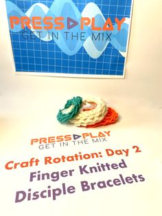 Vbs Crafts, Finger Knitting, Vacation Bible School, Sunday School, Play, Finger Crochet