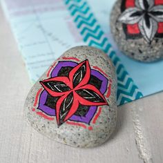 Travel Stone // gift for travelers // purple, red, black, white, silver // travel along & stay connected