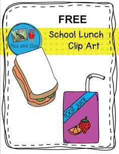 These five free images of school clip art are great for use in task cards, on worksheets, or as classroom decorations. School Cafeteria Decorations, Cafeteria Food, Cafeteria Behavior, Cafeteria Bulletin Boards, Cafe Bulletin Boards, School Lunchroom, Simply Learning, Lunch Room, Dramatic Play