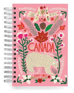Polar bear 150 Jumbo Journal Designed by Carolyn Gavin for ecojot. www.ecojot.com carolynj and ecojot on Instagram