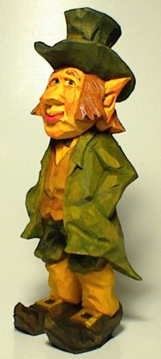 Leprechauns that my friend tom hindes carved wood