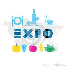 Expo 2015 event illustration Editorial Photography http://www.dreamstime.com/editorial-photography-expo-event-illustration-logo-blue-food-gastronomy-symbols-world-map-background-image54039862