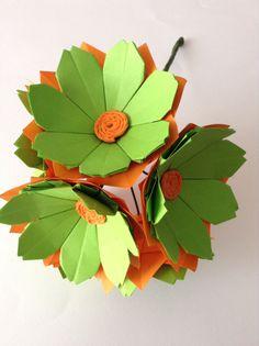 Bouquet di Gerbere fiori di carta.