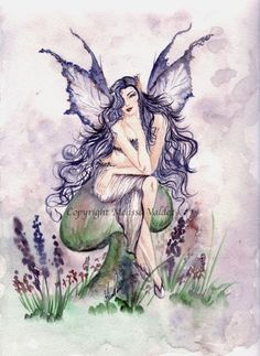 The Faery Violet Fairy Pictures, Unicorns And Mermaids, Beautiful Stories, Fairy Art, Watercolour Painting, Faeries, All Print, Art Drawings, Sprites
