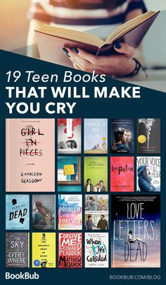 19 sad teen/young adult books that will make you shed a tear and cry. Books To Read In Your Teens, Best Books To Read, Ya Books, Book Club Books, Good Books, Best Teen Books, Books That Are Movies, Book Art, Book Suggestions