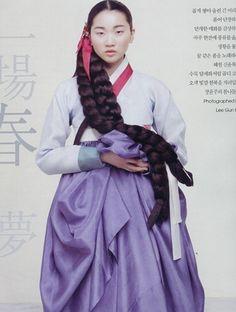 Vogue Korea 2008 장윤주 한복 화보