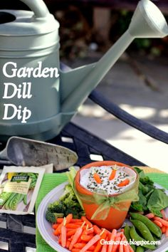 Grain Crazy: Garden Dil Dip and garnish with cute carrots