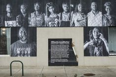 A public art piece from Morgan State University students, created as part of JR's ongoing Inside Out project. Photo: Christopher Metzger and Kelli Williams. Alphonse Mucha, Inside Out Project, Black Church, Arts Ed, Global Art, Street Artists, First Nations, Magazine Art, Public Art