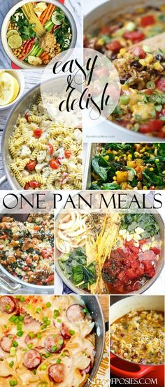 One Pan Skillet Meals that are easy and delish!