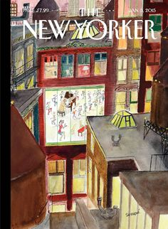 "The New Yorker Cover: Jan. 5, 2015.  ""Dance Around a Piano"", by Jean-Jacques Sempé"