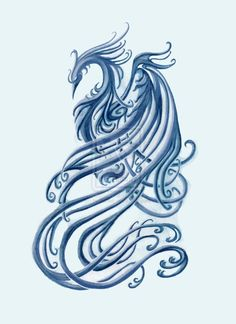Phoenix. Again if it was slightly longer and slimmer would look lovely as a back tattoo.
