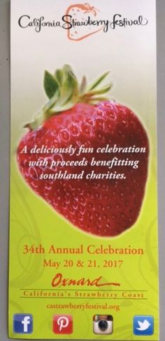 We will be at the California Strawberry Festival on May 20 & 21 in Oxnard CA. #Castrawberry