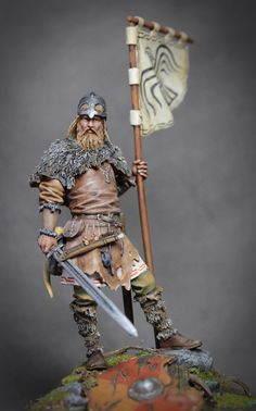 Nice,hand painted, Viking warrior figurine.